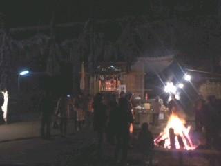 初詣(白山神社)。