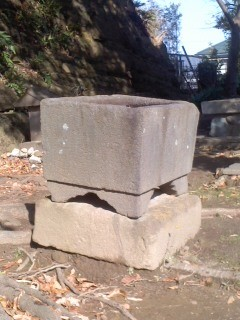 厳島神社 手水鉢。