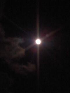 今夜の月。