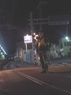 腰越駅前にて。