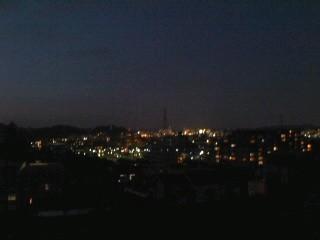 大船の夜景。