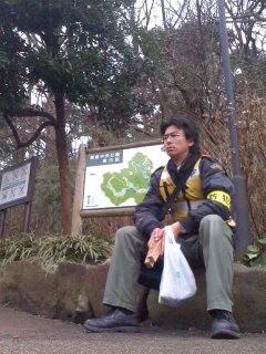 休憩(鎌倉市中央公園)。