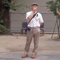 若者投票デモパレード・古川義雄さん。