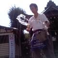 打ち水(塩釜神社、8月19日)