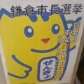 投票に行こう!(鎌倉市長選挙、10月24日)