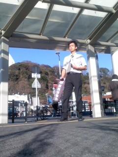 本日の朝駆け(大船駅西口、角田晶生)