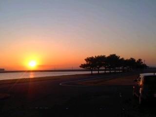 夕陽(1月31日、横須賀教育隊)