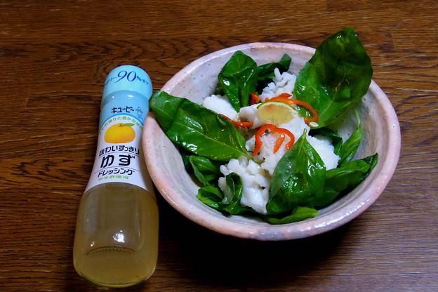 R0013165瀬戸内海産 ハモのバジルゆずドレッシングサラダ(自作)
