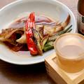 Photos: IMGP9565岩国市、雁木純米無濾過生原酒とカサゴの煮付け