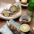 Photos: IMGP9600東広島市、純米酒西條鶴大地の風と秋刀魚3点