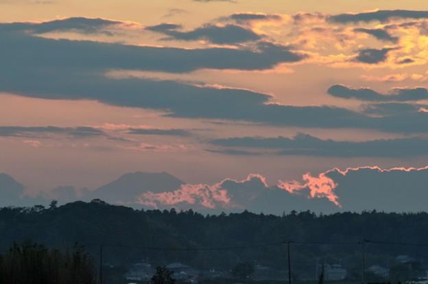 印旛沼7-富士山と夕暮れ