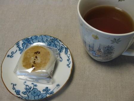 やきもちと桜紅茶
