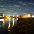 Photos: 川と橋とさくら