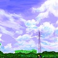 写真: 寒川の空