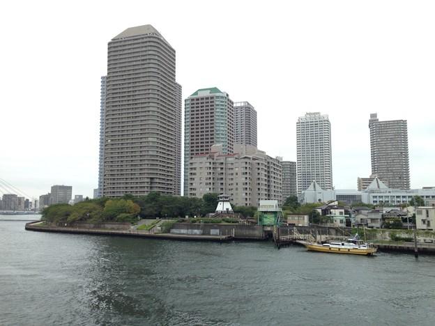今日の佃島(中央区)