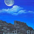 写真: 軍艦島夜景