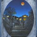 写真: オレンジの月