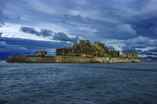 写真: 軍艦島全景(146-p)