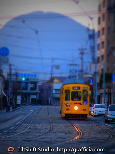 模型風。Miniature tram.