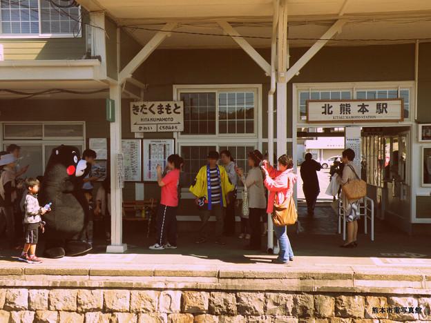 ある日の北熊本駅。
