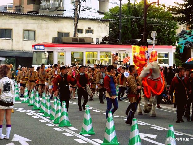 藤崎八旛宮秋季例大祭の随兵行列。