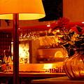 ランプと花と・・・・
