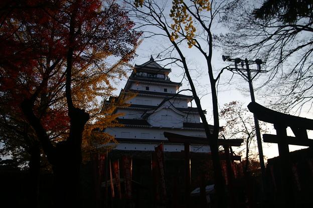 黄昏の鶴ヶ城