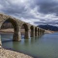 写真: タウシュベツ橋梁
