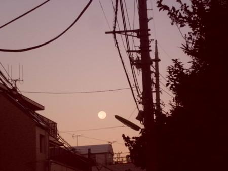 10月1日朝中秋の名月CIMG2193
