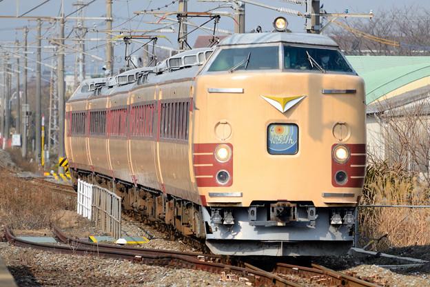にちりん485系  椎田駅から