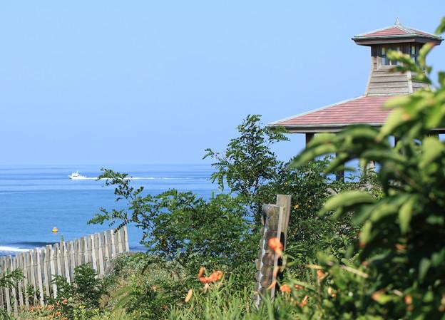 Photos: 夏の日本海と東屋