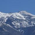 冠雪の白山 左から大汝峰 剣ヶ峰 最高峰の御前峰