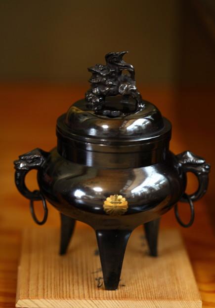 鋳銅製 獅子香炉