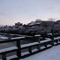 浅野川 中の橋と主計町 雪