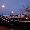 浅野川 中の橋 街灯と雪(1)