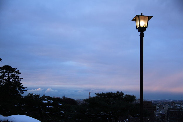 兼六園 眺望台の灯り
