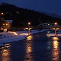 夕暮れの浅野川 天神橋 梅の橋