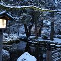 雪の兼六園 曲水(2)