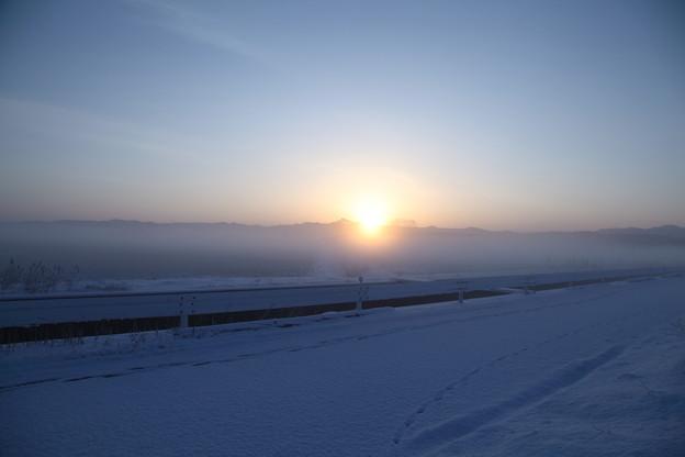 氷点下の日の出