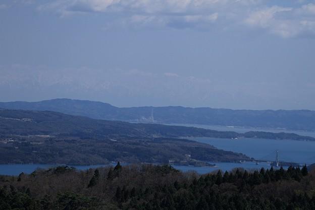 七尾湾から  立山連峰