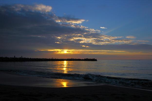 夕暮れの日本海 夕陽