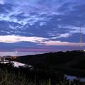 Photos: 夕暮れの日本海と風車
