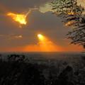 Photos: 夕陽と光芒