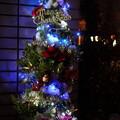 わが家のクリスマスツリー  LED ソーラーイルミ