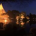 Photos: 兼六園 春の特別開催 ライトアップ 霞ヶ池 唐崎の松