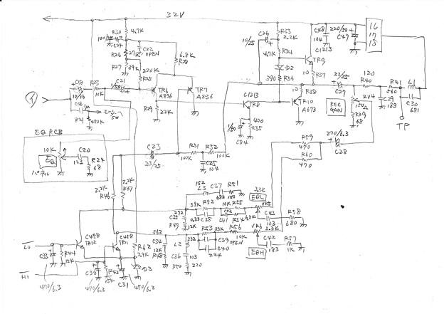 Photos: DENON DH-610S REC回路図2