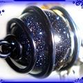 ∵くるくるくるりん渦巻き銀河のキーホルダー ブルーサンドストーン(紫金石)ハンドメイド 手作り ワイヤーワーク(ワイヤーアート)グルグルうずまきキーホルダー3