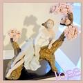 Photos: リヤドロプレミアム展・スペイン大使館・作品・桜の樹の下で♪