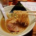 Photos: 拉麺熱 豚醤油熱(ハーフサイズ) 麺