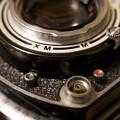 写真: オートコード 絞りレバー セルフタイマー